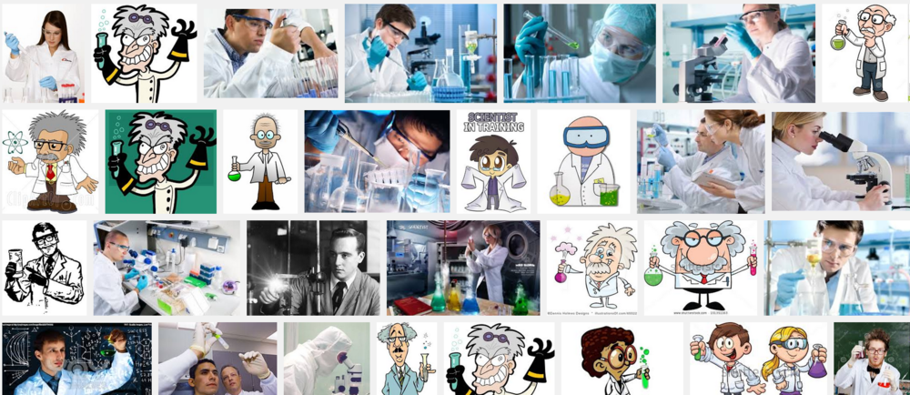 "Google image search, ""Scientist"""