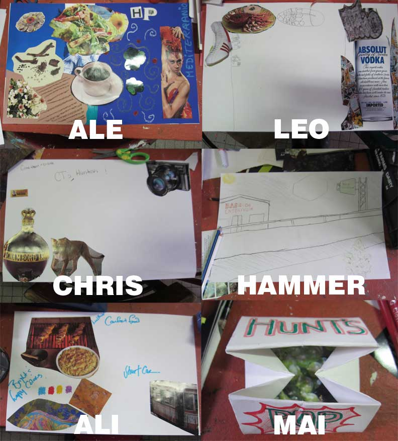 Blank Plate students create their visions for a local restaurant.