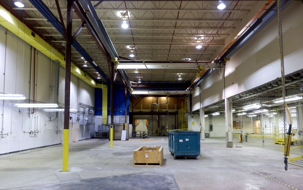 A typical industrial space being prepared for re-purposing