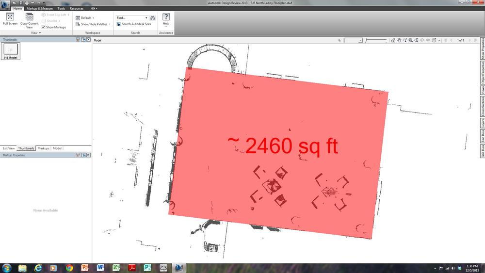 Area measurement of North Lobby.jpg