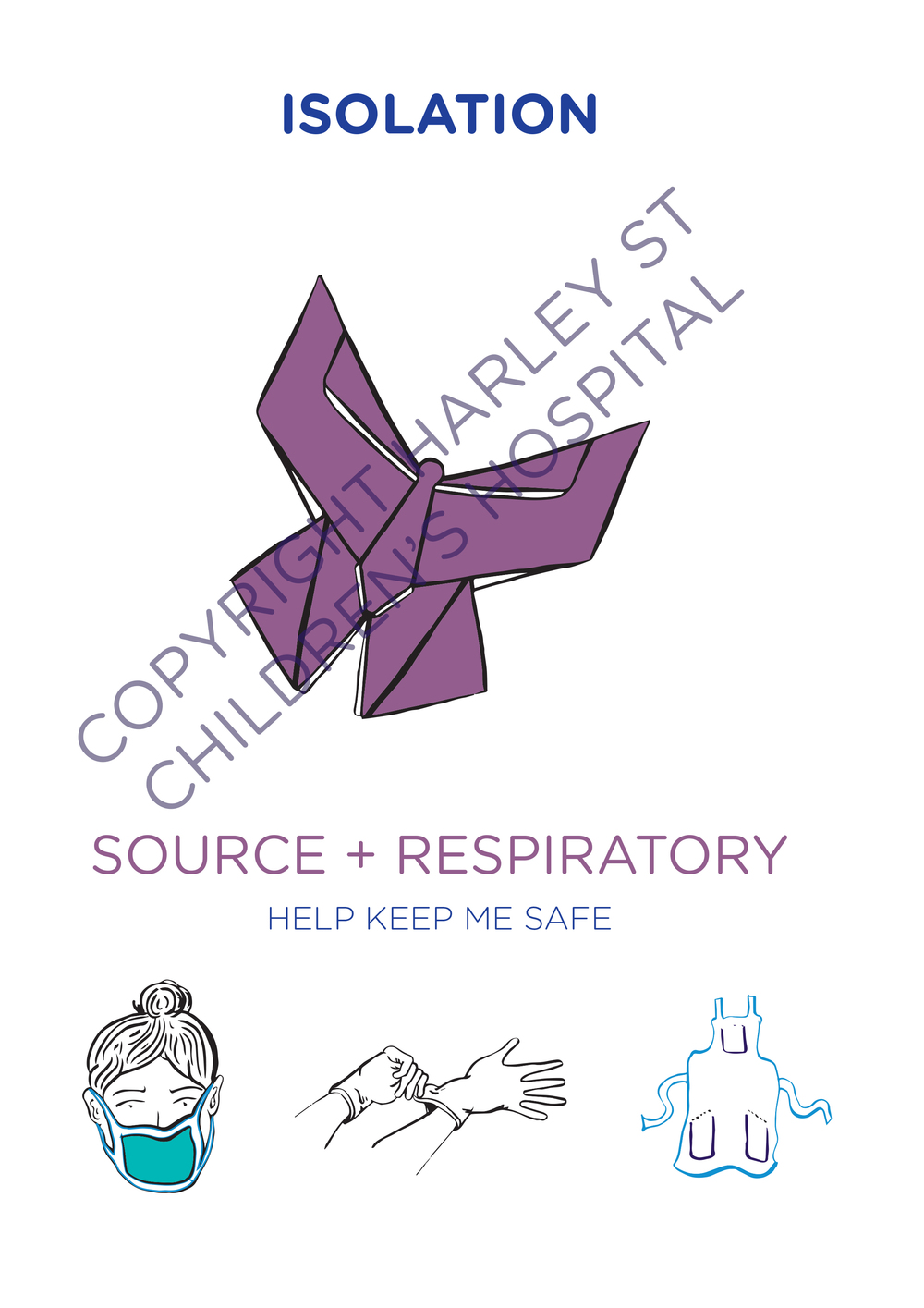 Harley Street Clinic: Isolation Door Sign (Respiratory)