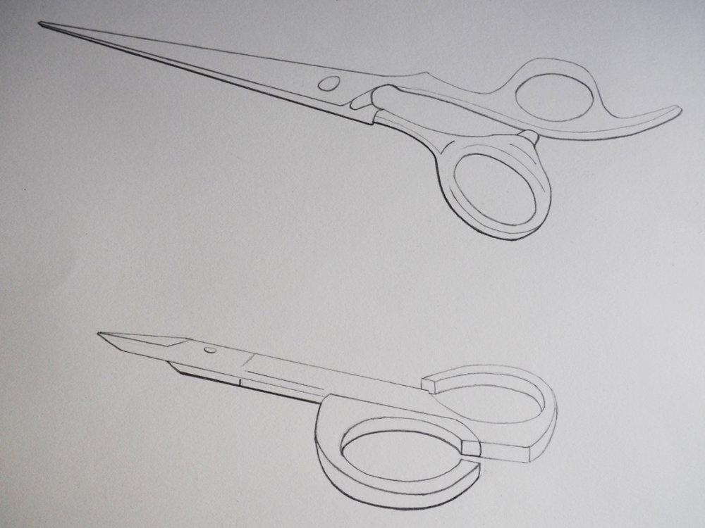 Scissors, graphite