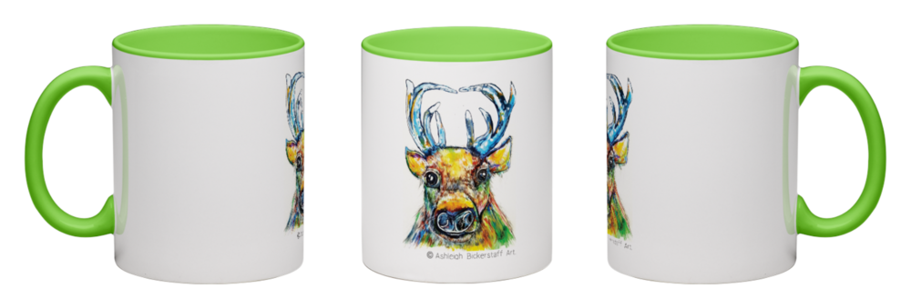 Ashleigh's Quirky Animal Illustrations on Mugs   £13.00 (* Optional Prints Available ) | #ashebickillustrations |  © Ashleigh Bickerstaff Art.