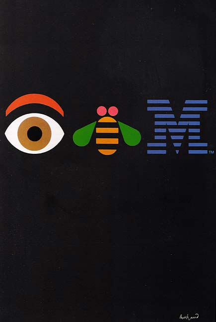 Paul Rand's famous IBM poster, followed by some of his logos.