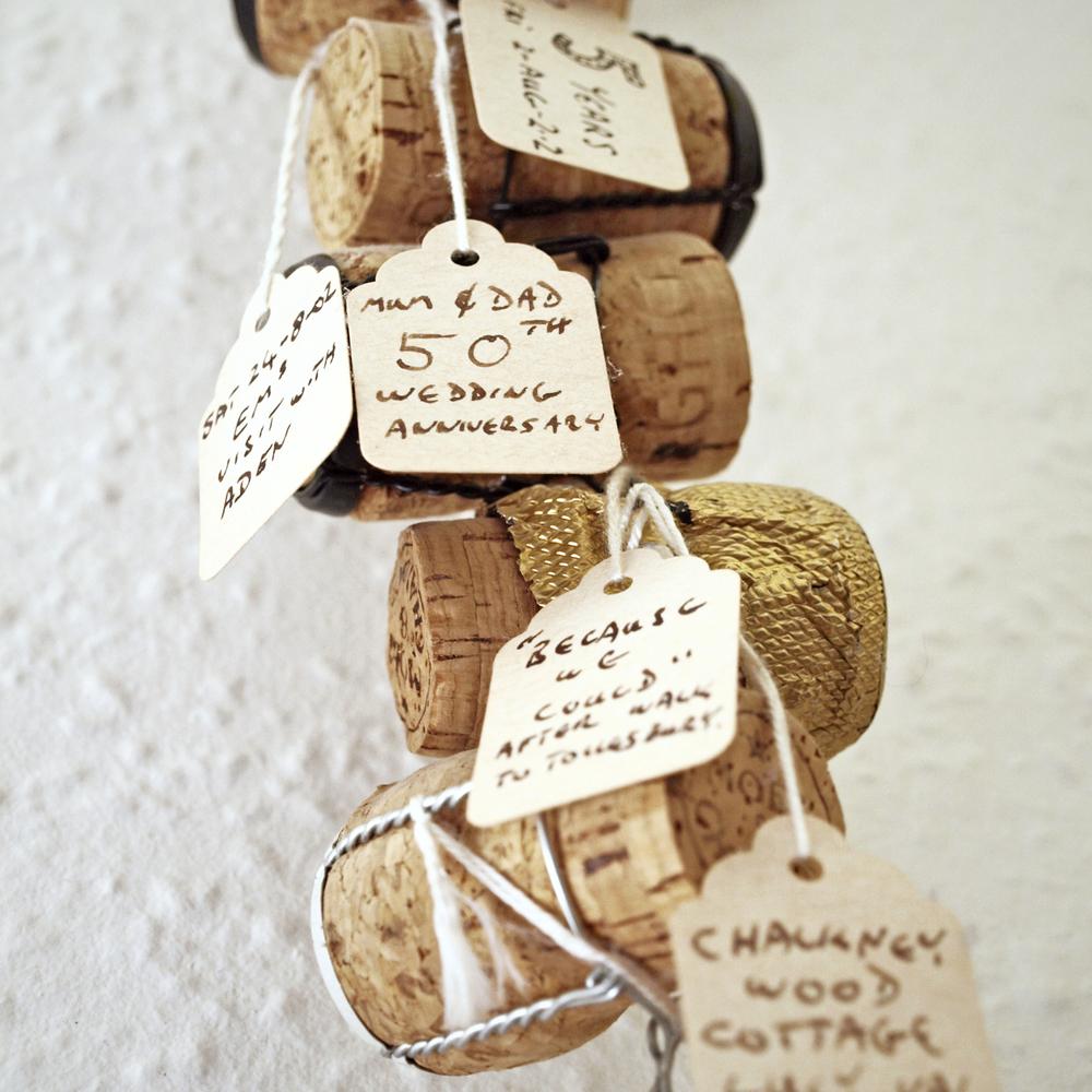 A cork timeline