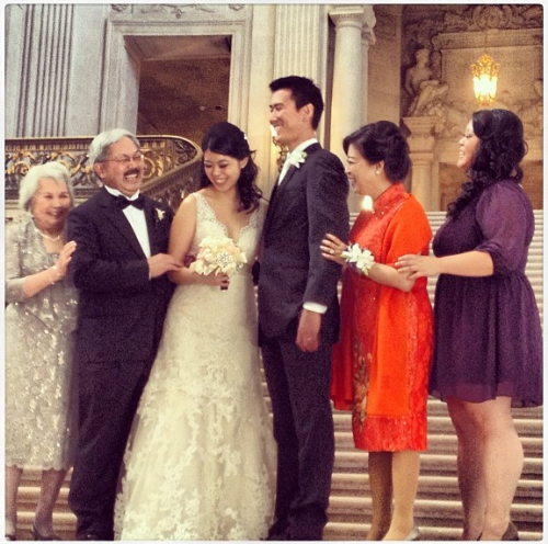 That one time we got to hang with Mayor Ed Lee's amazingly funny daughters - bride Brianna and Maid of Honor Tania. via @emkamlley on Instagram