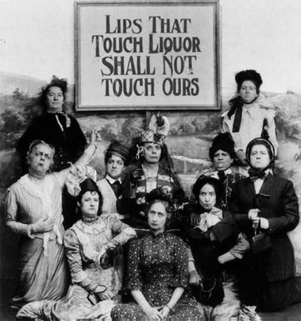 Newspaper photograph from the Prohibition Era. Fighting for a cause with clear conviction.