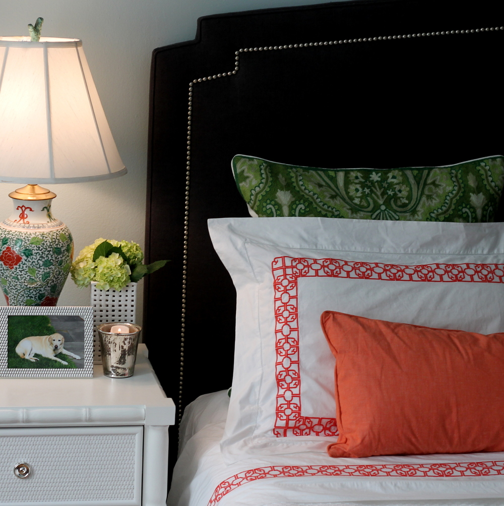 Coral And Gray Bedroom: Emily C. Butler