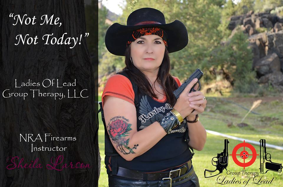 Sheila Larson NRA Firearms Instructor, NRA Refuse To Be A Victim Instructor.