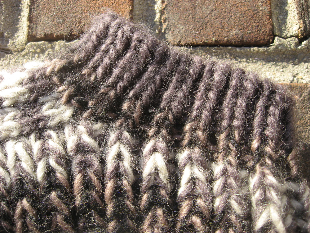 Right way up = upside-down knitting