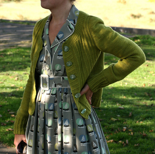 Deco Cardigan photo courtesy Kate Davies