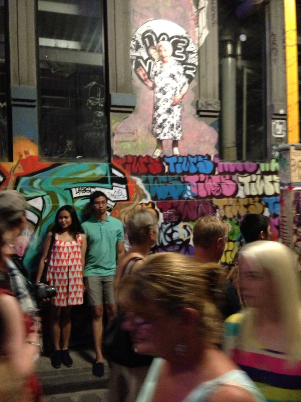 White Night Festival - graffiti alley