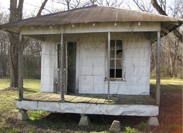 Tenant Farmer's Home on cinder blocks