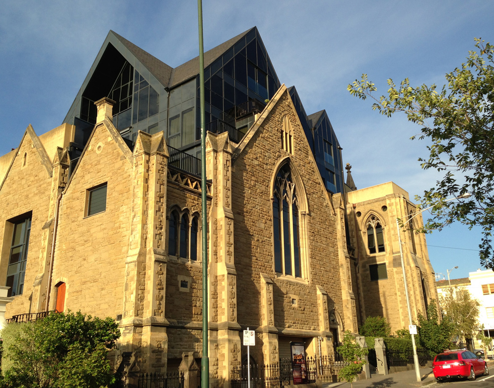 Church converted to apartments Hotham St
