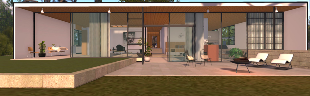 Case Study House no.9 on display in Second Life