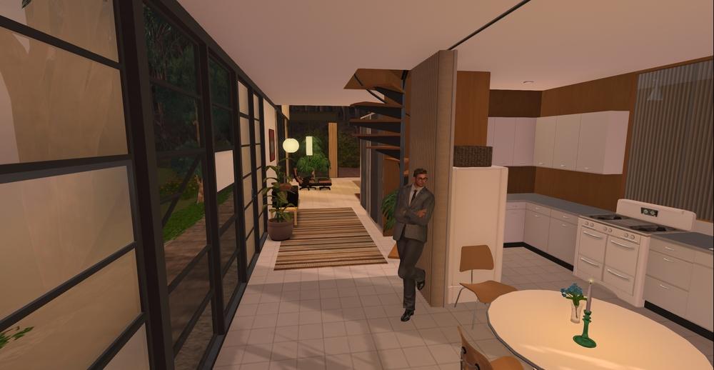 Eames House model - kitchen