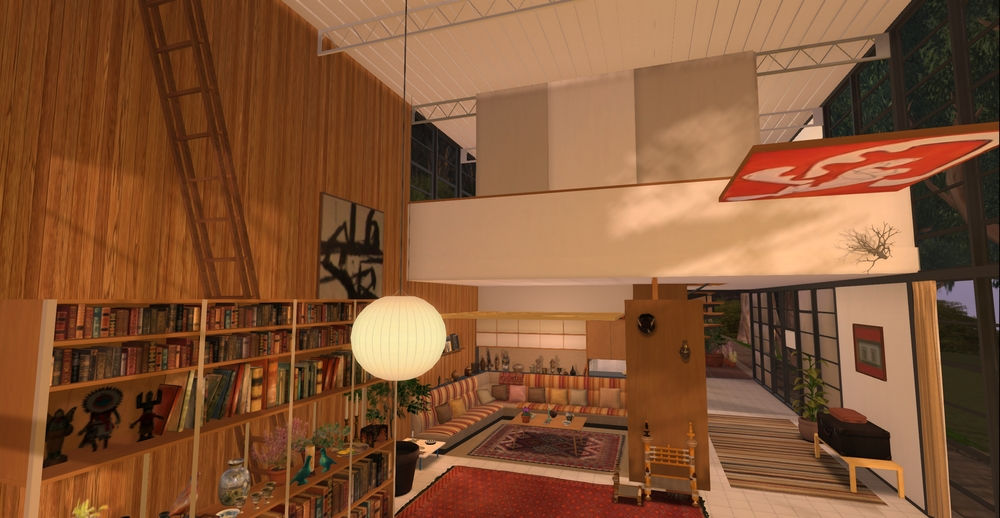 Eames House model - living room 2