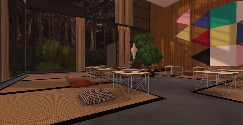 Eames House model - Tea ceremony Setup