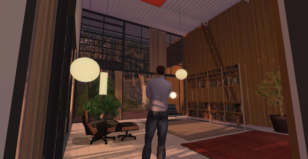 Eames House model - living room 3
