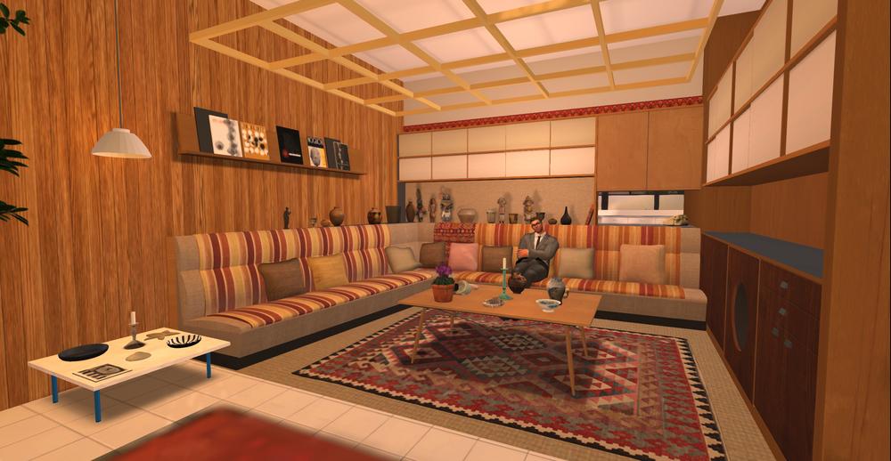 Eames House model - alcove