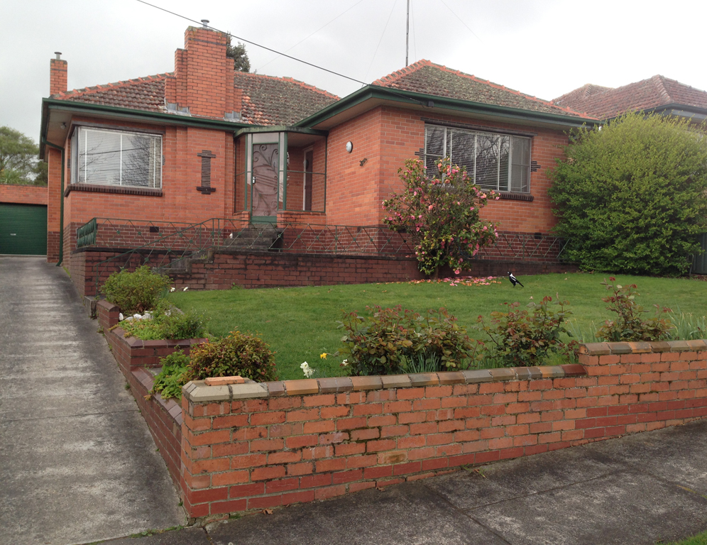 Typical mid century bungalow Ballarat