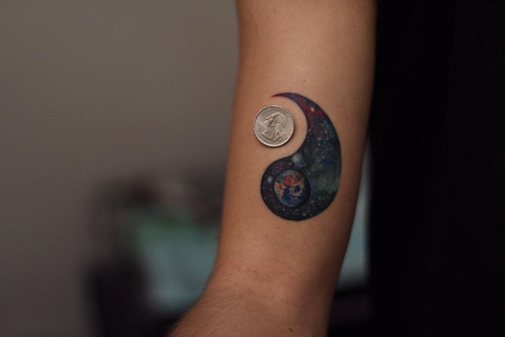 realistic space tattoo