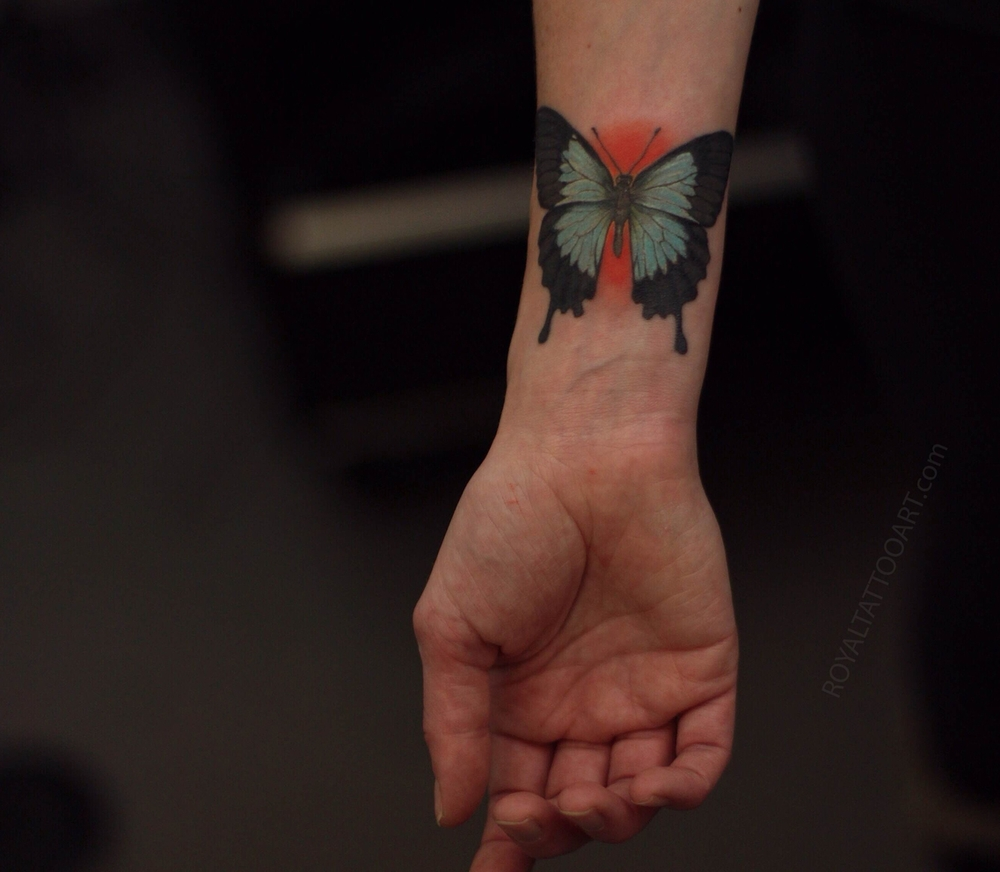 blue australian butterfly tattoo ulysses