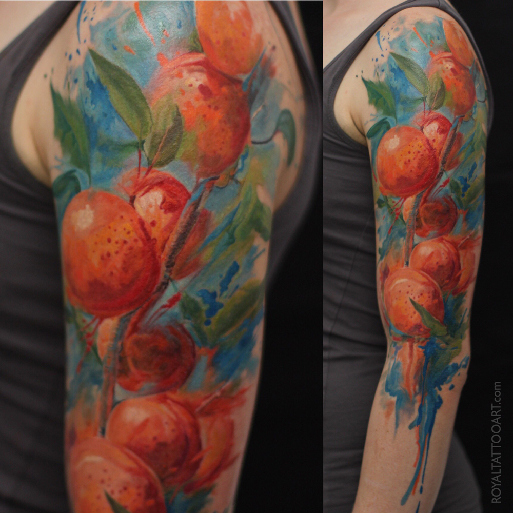abricot water color tattoo nyc royal jafarov realism