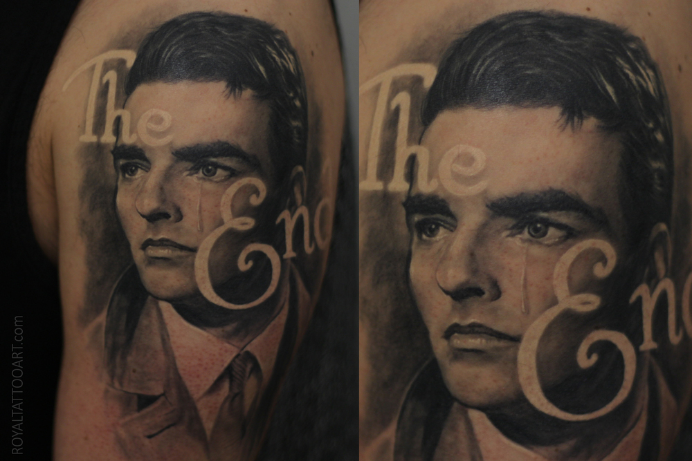 Montgomery Clift tattoo portrait black and grey realism realistic nyc art artist tattooing bng tattoo.jpg