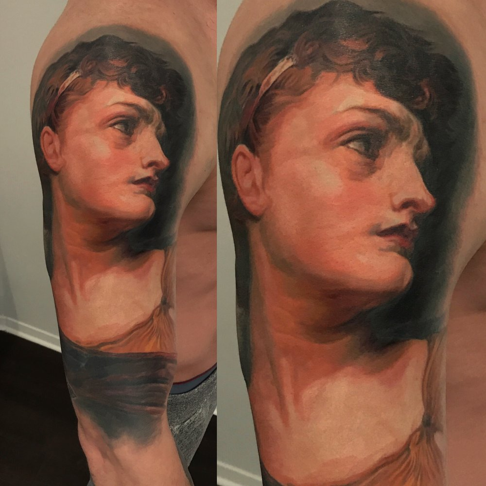 portrait painting tattoo