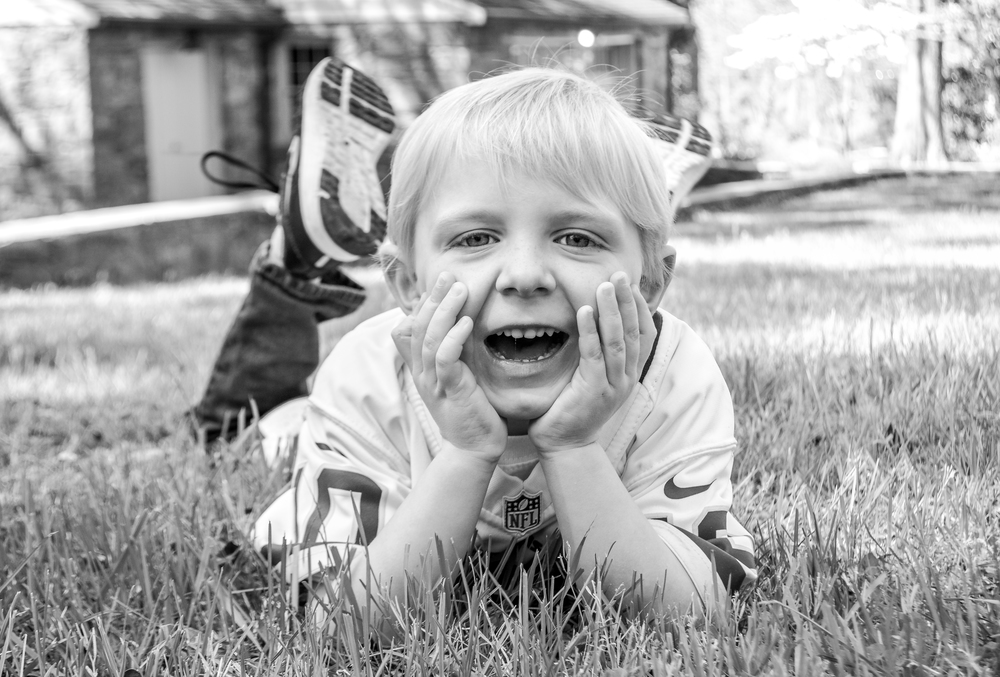 His little smile makes me happy :)