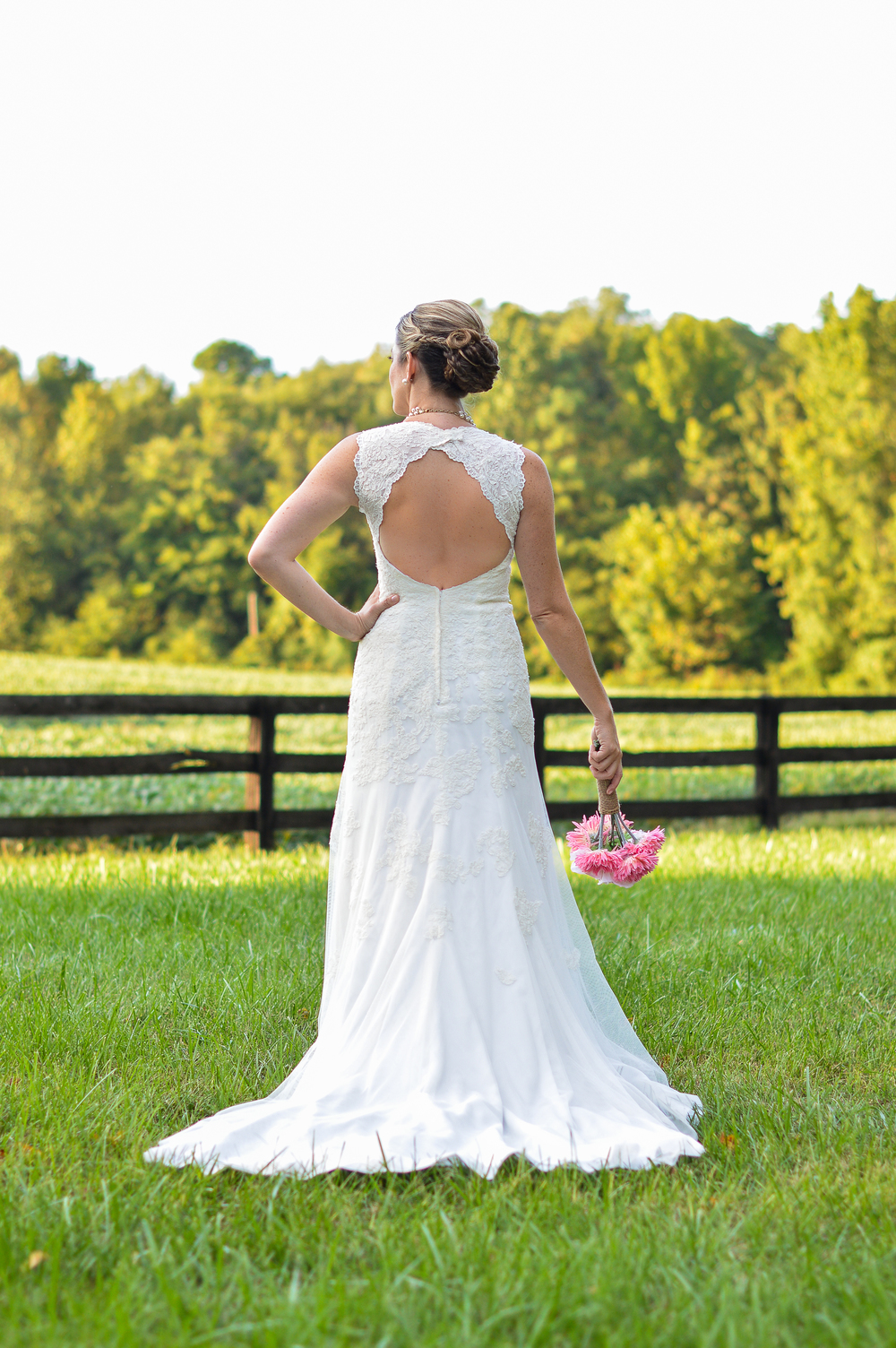 I love the back of her dress. Stunning!