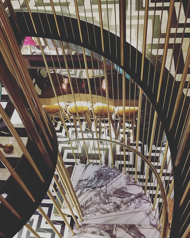 This beauty staircase was seen in #hongkong. ❤ the material selection.