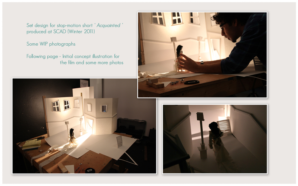 Set design for stop-motion short 'Acquainted' produced at SCAD.