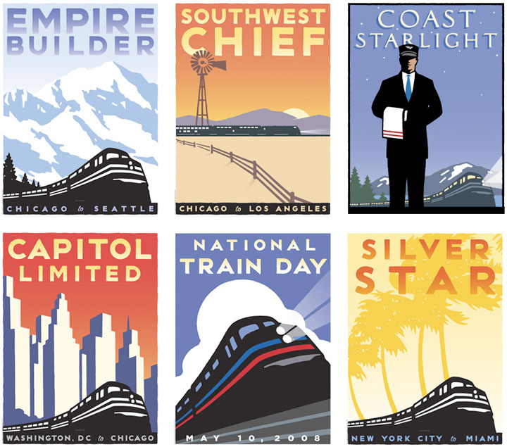 (Posters by MIchael Schwab and Arnold Worldwide Partners)