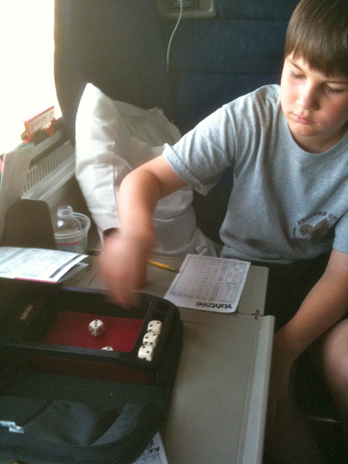 Playing games in the roomette