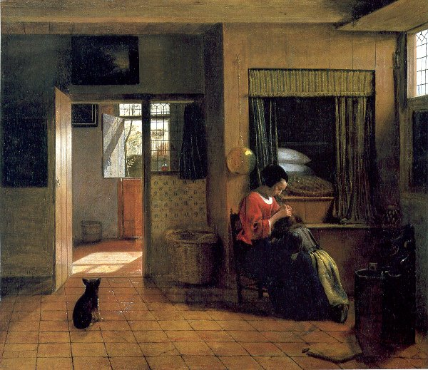 A Mother and Child with its Head in her Lap, Pieter de Hooch