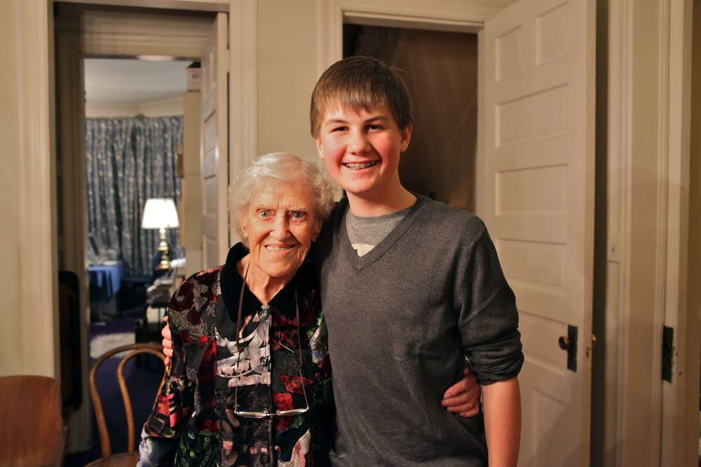 Sam and my grandma, bookends on four generations