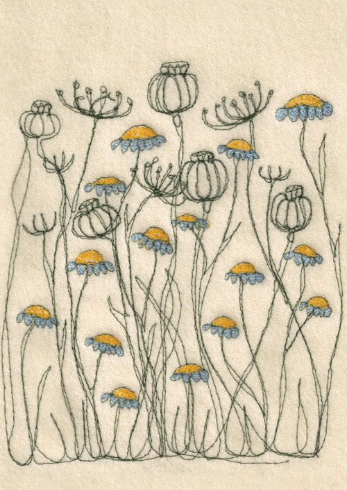 Not my actual embroidery, just one of the many inspirations, via here and here