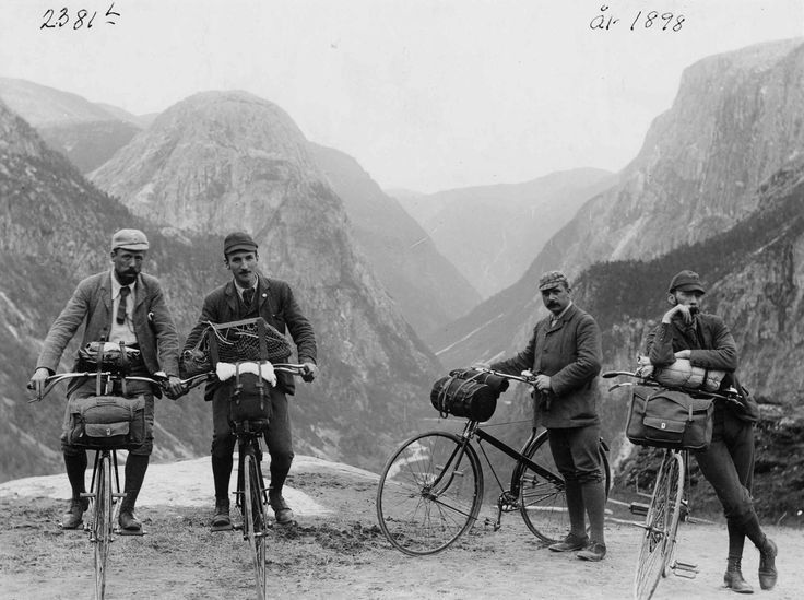 Bike to the top of a mountain, 1900  via