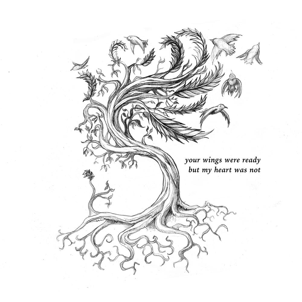 roots  tree  feathers  and birds  u2014 isaac trujillo