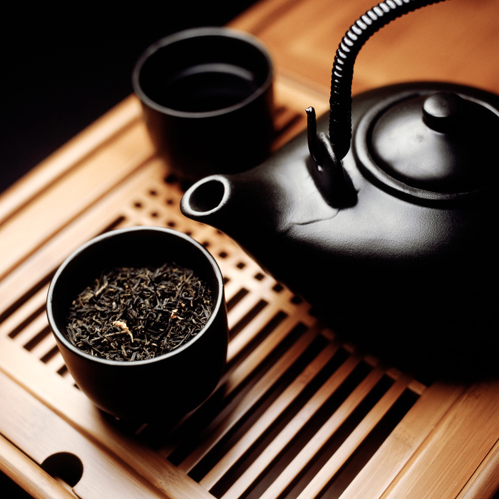 Jasmine Tea & Black Teapot