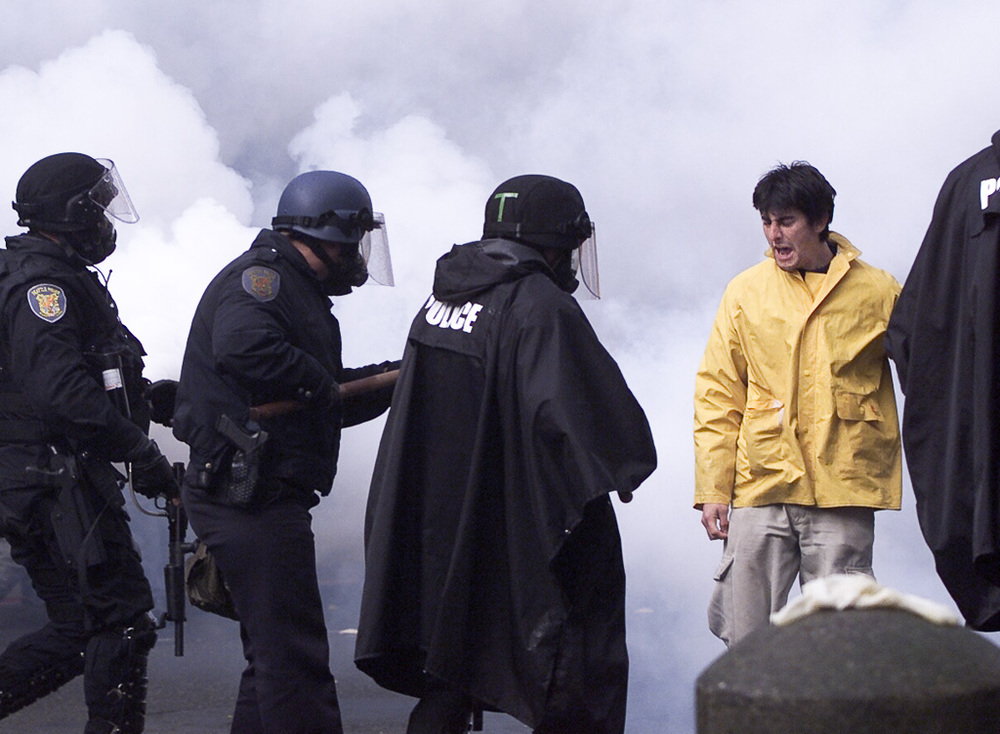 WTO riots, Seattle: confrontation in a cloud of gas