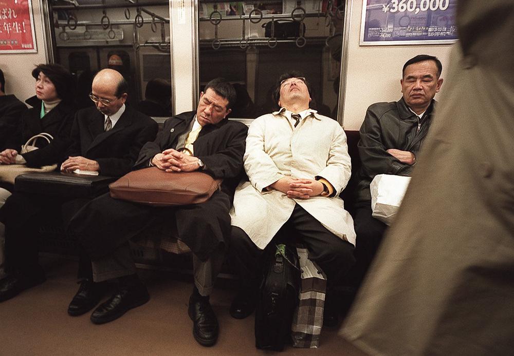 """Tired """"Salarymen,"""" Tokyo"""
