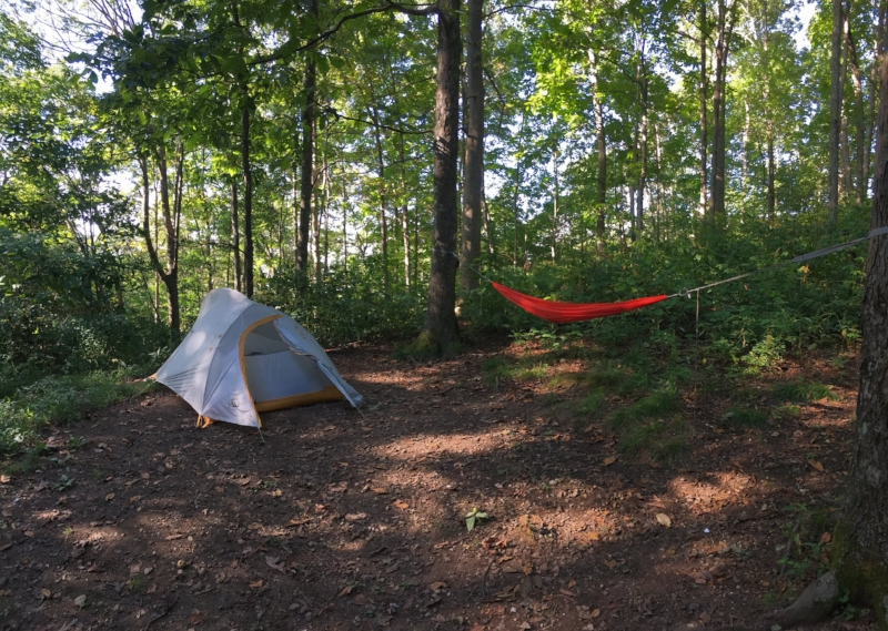 Our campsite the other night.