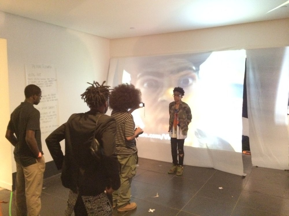 Museumgoers collaborate on video