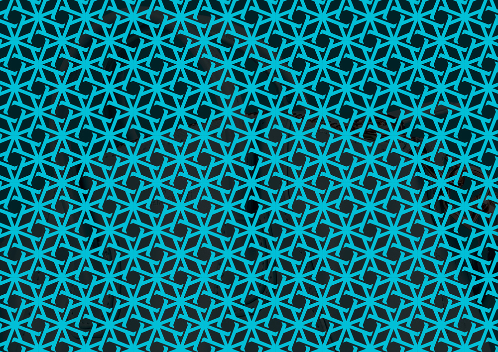 A continuous version of the Conti star creating a seamless pattern.