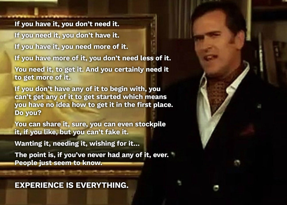 "Bruce Campbell, Old Spice, ""Experience is Everything"""