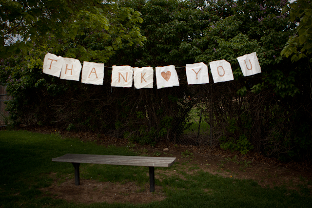 thank you sign, diy wedding