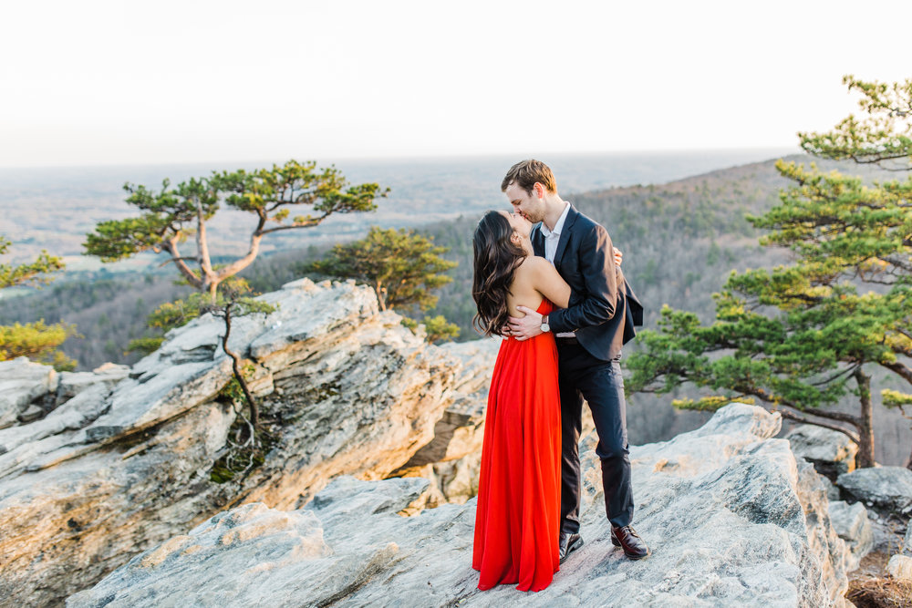 Mary & Chris: engaged Hanging Rock State Park, NC